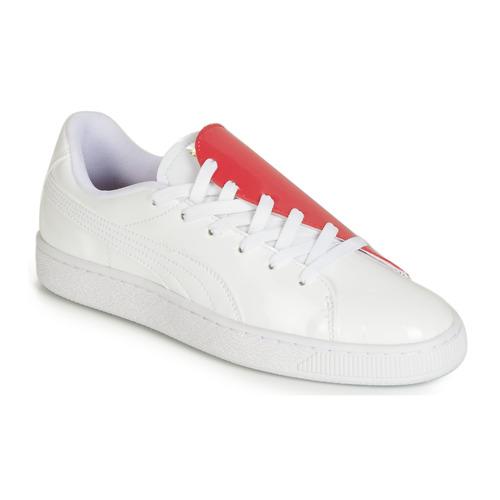 Pantofi Femei Pantofi sport Casual Puma WN BASKET CRUSH.WH-HIBISCU Alb