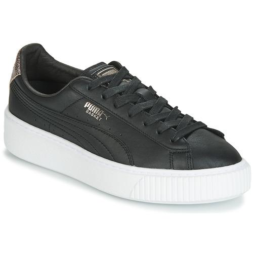 Pantofi Femei Pantofi sport Casual Puma WN SUEDE PLATFM OPULENT.BL Negru