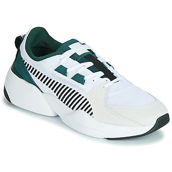 Încăltăminte Bărbați Pantofi sport Casual Puma ZETA SUEDE.WHITE-PONDEROSA Alb