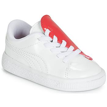 Încăltăminte Fete Pantofi sport Casual Puma INF B CRUSH PATENT AC.W-H Alb