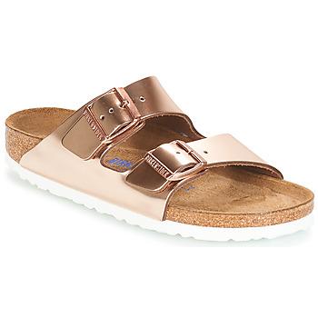 Pantofi Femei Papuci de vară Birkenstock ARIZONA SFB Auriu