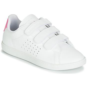 Pantofi Fete Pantofi sport Casual Le Coq Sportif COURTSET PS Alb / Roz