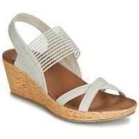 Pantofi Femei Sandale și Sandale cu talpă  joasă Skechers BEVERLEE Bej