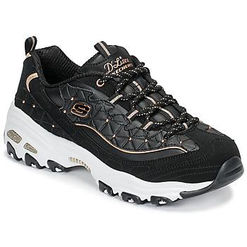 Încăltăminte Femei Pantofi sport Casual Skechers D'LITES GLAMOUR FEELS Negru