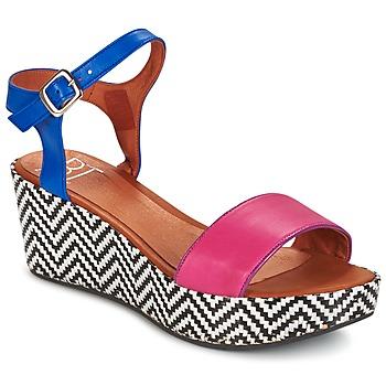 Pantofi Femei Sandale și Sandale cu talpă  joasă Betty London EDOUVOLE Fuchsia / Albastru