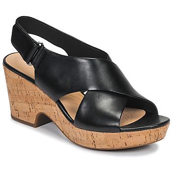 Încăltăminte Femei Sandale și Sandale cu talpă  joasă Clarks MARITSA LARA Negru