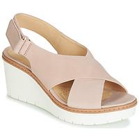 Pantofi Femei Sandale și Sandale cu talpă  joasă Clarks PALM CANDID Nude