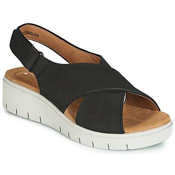 Încăltăminte Femei Sandale și Sandale cu talpă  joasă Clarks UN KARELY SUN Negru