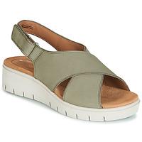 Încăltăminte Femei Sandale și Sandale cu talpă  joasă Clarks UN KARELY SUN Verde