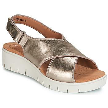 Încăltăminte Femei Sandale și Sandale cu talpă  joasă Clarks UN KARELY SUN Auriu