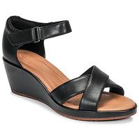 Încăltăminte Femei Sandale și Sandale cu talpă  joasă Clarks UN PLAZA CROSS Negru