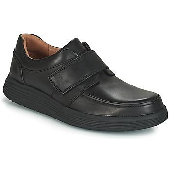 Pantofi Bărbați Pantofi Derby Clarks UN ABODE STRAP Negru