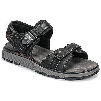 Pantofi Bărbați Sandale și Sandale cu talpă  joasă Clarks UN TREK PART Negru
