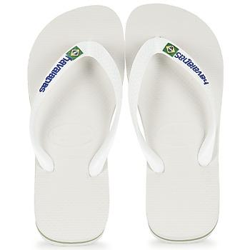 Pantofi  Flip-Flops Havaianas BRASIL LOGO Alb
