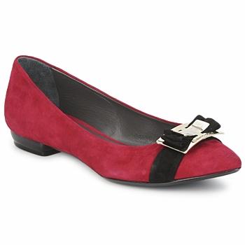 Pantofi Femei Balerin și Balerini cu curea Alberto Gozzi CAMOSCIO RUBINO Rosso