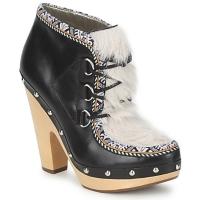 Pantofi Femei Botine Belle by Sigerson Morrison BLACKA Bej / Black