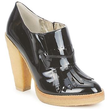 Pantofi Femei Botine Belle by Sigerson Morrison SHEEP Black / Stone / Panna