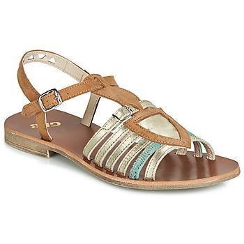 Pantofi Fete Sandale și Sandale cu talpă  joasă GBB FANNI Maro / Auriu