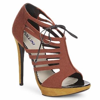 Încăltăminte Femei Sandale și Sandale cu talpă  joasă Pollini PA1602  feltro-ruggine