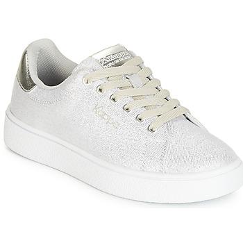 Încăltăminte Fete Pantofi sport Casual Kappa SAN REMO KID Alb / Argintiu