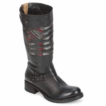 Pantofi Femei Ghete Strategia ENRO Negru / Imprimeuri / Drapel