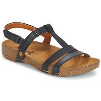 Pantofi Femei Sandale și Sandale cu talpă  joasă Art I BREATHE Negru