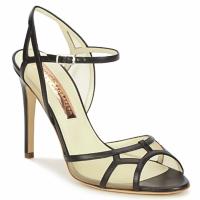 Pantofi Femei Sandale și Sandale cu talpă  joasă Rupert Sanderson TREEN Negru / Bej