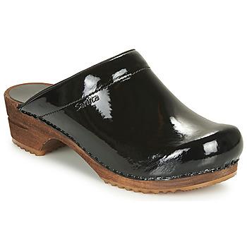 Pantofi Femei Saboti Sanita CLASSIC PATENT Negru