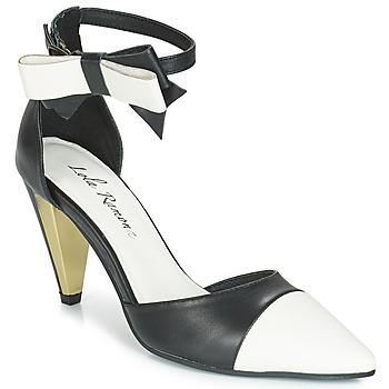 Pantofi Femei Sandale și Sandale cu talpă  joasă Lola Ramona RAMONA Negru / Alb