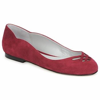 Pantofi Femei Balerin și Balerini cu curea Fred Marzo MOMONE FLAT Bordo