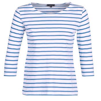 Îmbracaminte Femei Tricouri cu mânecă lungă  Armor Lux YAYAROULE Alb / Albastru