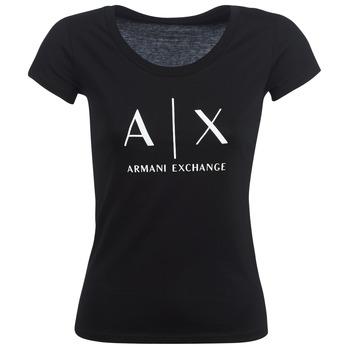 Îmbracaminte Femei Tricouri mânecă scurtă Armani Exchange HELBATANTE Negru
