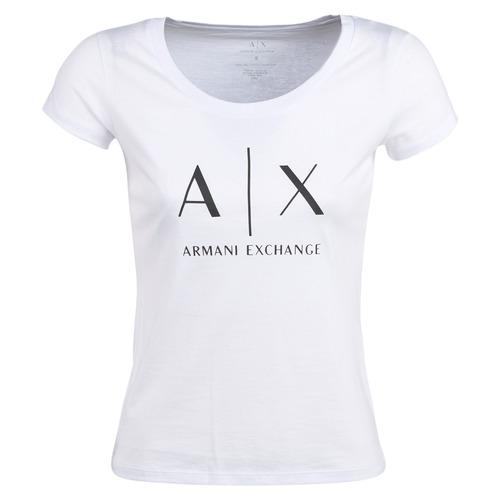 Îmbracaminte Femei Tricouri mânecă scurtă Armani Exchange HELIAK Alb