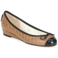 Pantofi Femei Balerin și Balerini cu curea French Sole HENRIETTA Taupe