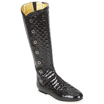 Pantofi Femei Cizme casual French Sole PUMPKIN Negru
