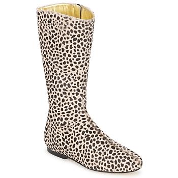 Pantofi Femei Cizme casual French Sole PATCH Leopard