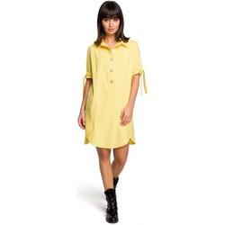 Îmbracaminte Femei Rochii scurte Be B112 Tunică cu guler și mâneci legate - galben