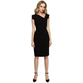 Îmbracaminte Femei Fuste Style S121 Rochie creion cu decolteu asimetric - negru