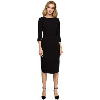 Îmbracaminte Femei Rochii scurte Style S119 Rochie simplă cu nasturi - negru