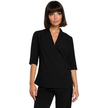 Îmbracaminte Femei Topuri și Bluze Be B090 Top simplu cu decolteu în V cu in - negru