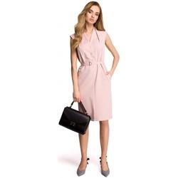 Îmbracaminte Femei Hanorace  Style S102 Rochie-cămașă fără mâneci - pudră