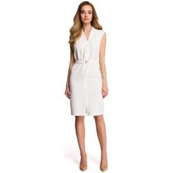 Îmbracaminte Femei Hanorace  Style S102 Rochie-cămașă fără mâneci - ecru