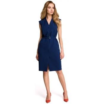 Îmbracaminte Femei Rochii Style S102 Rochie-cămașă fără mâneci - albastru marin