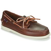 Pantofi Bărbați Pantofi barcă Sebago DOCKSIDES PORTLAND WAXED Maro