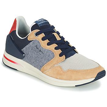 Pantofi Bărbați Pantofi sport Casual Pepe jeans JAYKER DUAL D LIMIT Albastru / Bej