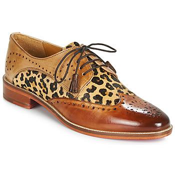 Încăltăminte Femei Pantofi Derby Melvin & Hamilton BETTY-4 Maro / Leopard
