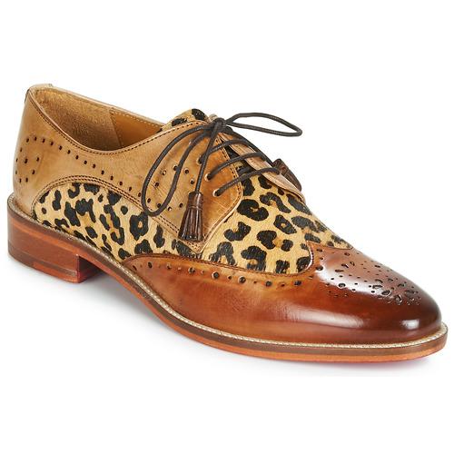 Pantofi Femei Pantofi Derby Melvin & Hamilton BETTY-4 Maro / Leopard