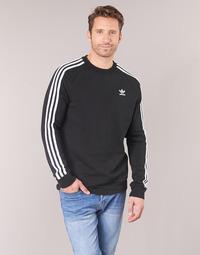 Îmbracaminte Bărbați Hanorace  adidas Originals 3 STRIPES CREW Negru