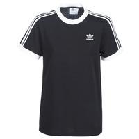 Îmbracaminte Femei Tricouri mânecă scurtă adidas Originals 3 STRIPES TEE Negru