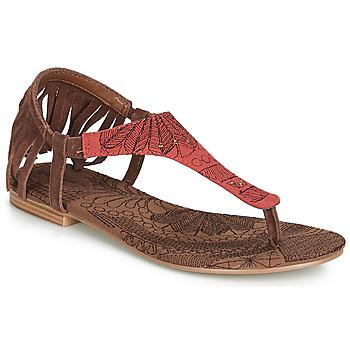 Pantofi Femei Sandale și Sandale cu talpă  joasă Desigual SHOES_LUPITA_LOTTIE Coniac / Roșu